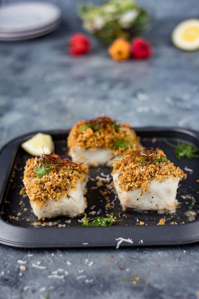 Przepis na rybę pieczoną pod kruszonką