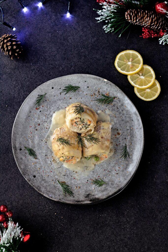 Roladki rybne w sosie cytrynowo miodowym szybki i prosty przepis